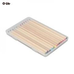 오라이프 투명 케이스 12색 우드색연필