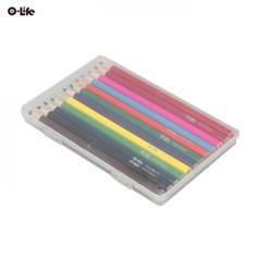 오라이프 투명 케이스 12색 칼라색연필