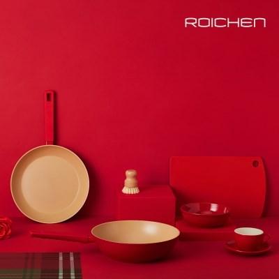 로이첸 IH 더-빨강팬 인덕션 28cm 프라이팬 넌스틱 쿡웨어