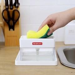 주방 싱크대 설거지 액상세제 펌프형 수세미 디스펜서
