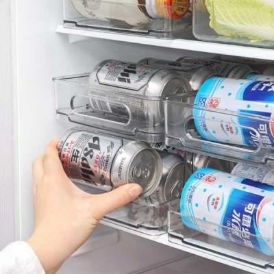 냉장고 맥주캔음료캔 수납정리 2단트레이