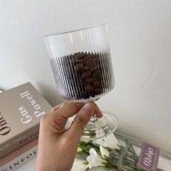 플리츠 고블렛 유리컵