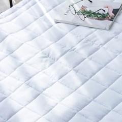 블럭 세미 항균 알러지케어 사계절 패밀리 침대패드 Q