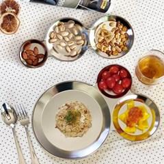 모던락 스텐 나눔 접시 식판 2종세트 3칸 푸드 트레이