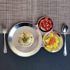 모던락 스텐 나눔 접시 식판(대) 3칸 다이어트 식판