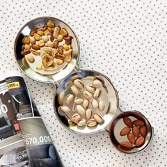 모던락 스텐 나눔 접시 식판(소) 반찬 간식 3구 접시