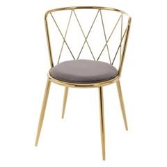 하피 골드 철제 의자[SH003492]