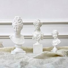 감성 조각상 오브제 빈티지 엔틱 크랙 3종 석고상