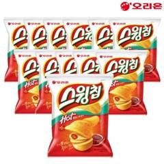 오리온 스윙칩 핫볶음고추장맛 60gX12봉/스낵과자/당일출고