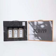 딜리셔스마켓 자연조미료 3종 선물세트(멸치/표고/함초)