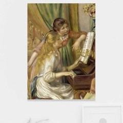 주문제작 액자 르누아르 Jeunes filles au piano