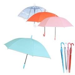 학생 성인 컬러우산 예쁜우산 투명 파스텔 장우산