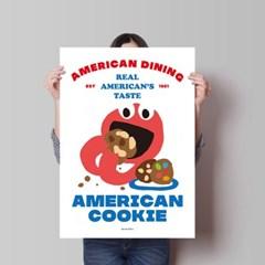 아메리칸 쿠키 M 유니크 인테리어 디자인 포스터 카페 디저트