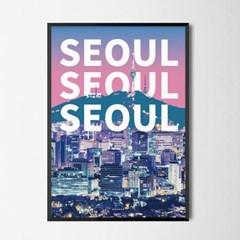 시티팝 서울 M 유니크 인테리어 디자인 포스터 대한민국