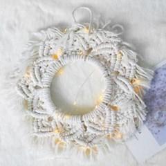 눈꽃 마크라메 리스 거실 인테리어 벽장식 월행잉 선물