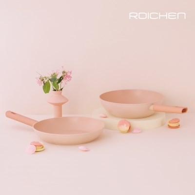 로이첸 IH 더-로즈핑크팬 2종세트(28cm후라이팬+28cm궁중팬