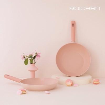 로이첸 IH 더-로즈핑크팬 인덕션 28cm 프라이팬 넌스틱 쿡웨어