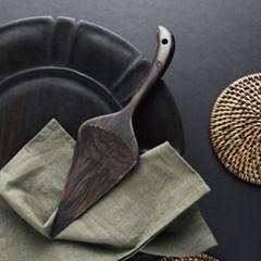 벨류세라믹 첼리나 흑단 원목 케이크서버 30cm