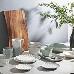 시라쿠스 네이처 화이트 그레이 테이블 웨어 그릇 모음