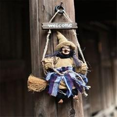 할로윈데이 마녀 인형 벽걸이 출입문 장식 소품 데코 H