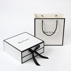 더베스트 리본 선물상자세트 쇼핑백 자석 손잡이상자