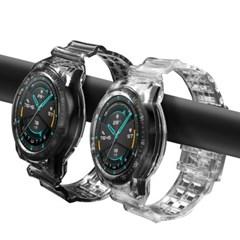 갤럭시워치 3 45mm 스트랩 일체형 투명 시계줄