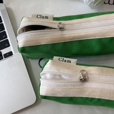 클램 라운드 펜슬케이스/필통 _ 그린프로그 (+Mini)