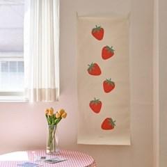 strawberry/딸기 B_세로형 패브릭 포스터 / 바란스커튼