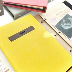 프리미엄 이니셜 초음파앨범(임신다이어리)A5 바인더-옐로우