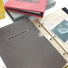 프리미엄 이니셜 초음파앨범(임신다이어리)A5 바인더-초코브라운