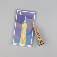 우드썸-엠파이어빌딩 랜드마크 원목 입체퍼즐 포스트카드