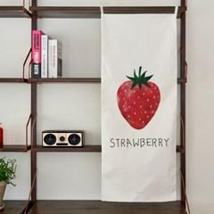 strawberry/딸기 A 세로형 패브릭 포스터 / 바란스커튼