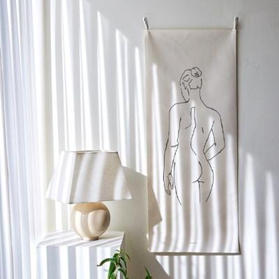 romantic drawing 세로형 패브릭 포스터 / 바란스커튼