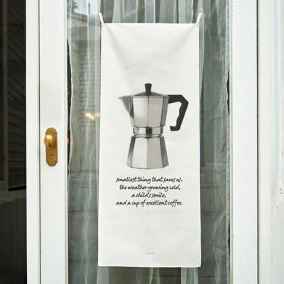 coffee/커피 B 세로형 패브릭 포스터 / 바란스커튼