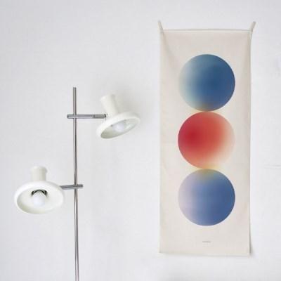 vibrant/기하학 A 세로형 패브릭 포스터 / 바란스커튼