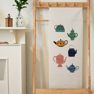 tea time 세로형 패브릭 포스터 / 바란스커튼