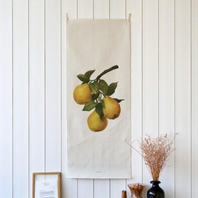 watercolor fruit/수채화 과일 B 세로형 패브릭 포스터 / 바란스커튼