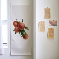 watercolor fruit/수채화 과일 A 세로형 패브릭 포스터 / 바란스커튼