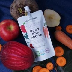 헬스포켓 껍질째 착즙한 유기농 ABC 주스 150ml 21팩