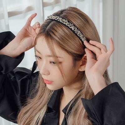 샤샤일자 머리띠 헤어밴드 (21HB015)