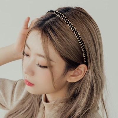 벨벳체인 일자 머리띠 헤어밴드 (21HB016)