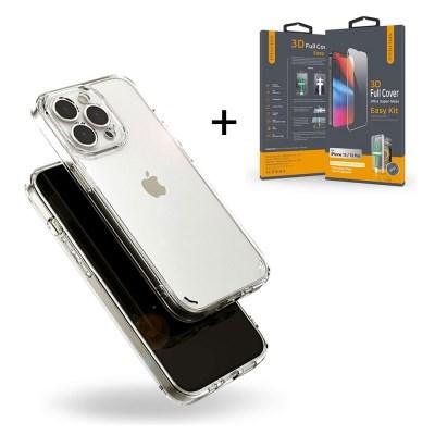 아이폰 13 프로 맥스 카메라 보호 울트라핏 케이스+강화유리 필름
