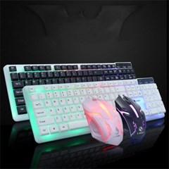 LED 백라이트 멤브레인 게이밍 키보드 마우스 H