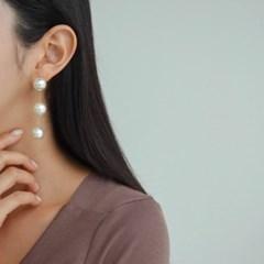 진주 드롭 아이보리 골드 E1288 패션 귀걸이