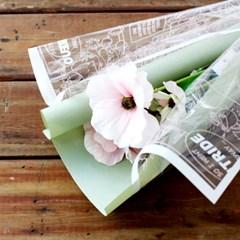 일러스트 OPP 꽃 포장지
