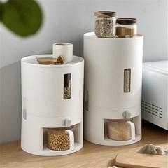 밀봉 방충 제습 자동계량 쌀통 쌀보관통 잡곡통 10kg H