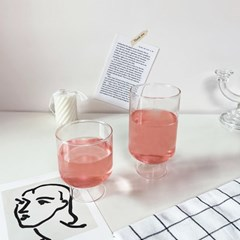 비라운드 내열 카페유리컵 쥬스잔 와인잔