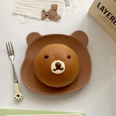 마이베어 곰돌이플레이트 (2color 아침밥 식단 홈카페 선물용)