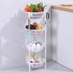 주방 과일 야채 양파망 보관함 바구니 수납장 선반