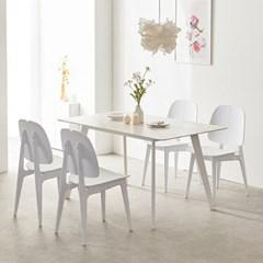 트리빔하우스 로레인 세라믹 1600 테이블 식탁 세트(의자4P)_TB20O79